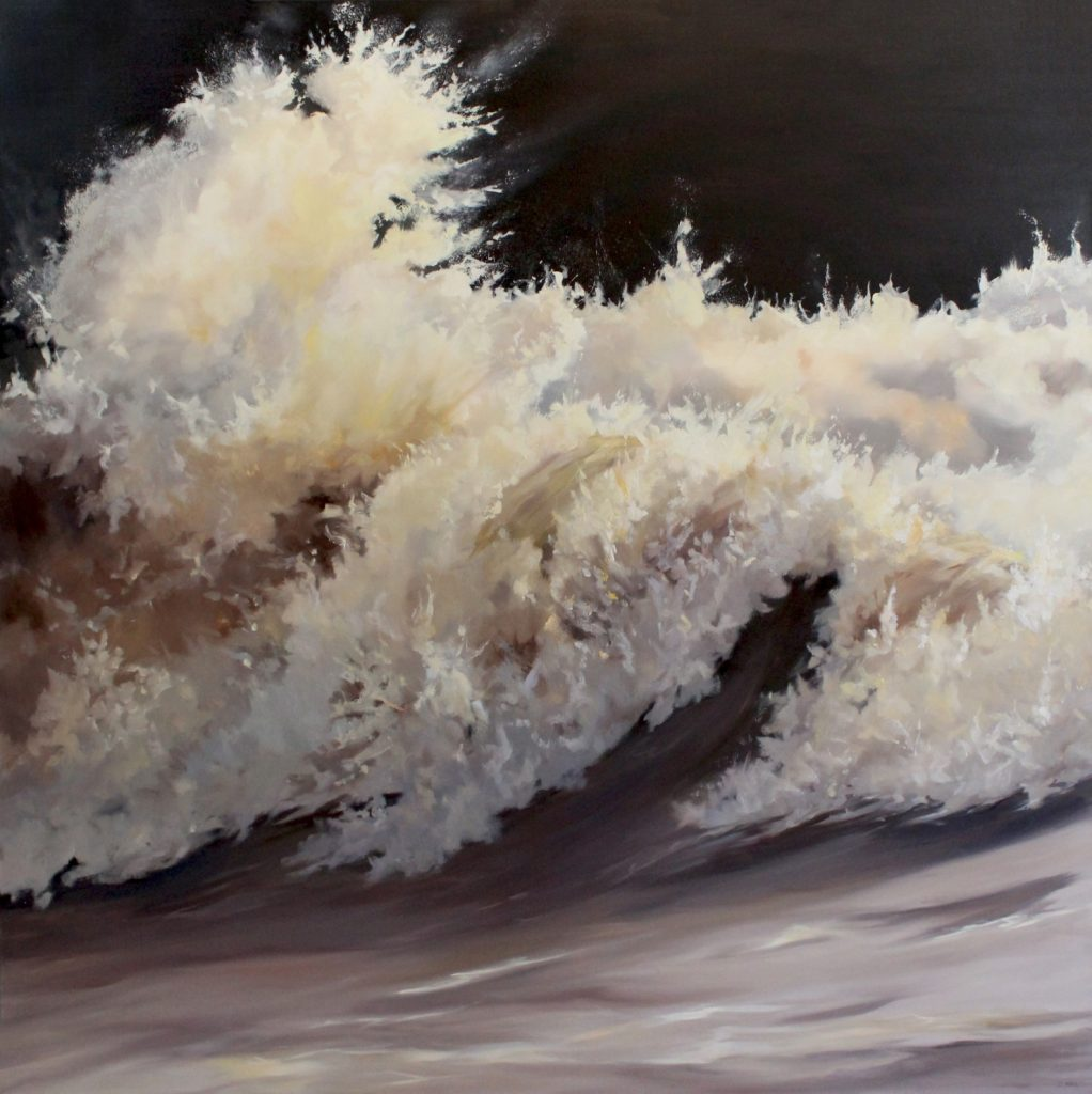 Waves33 Walton on the Naze Dawn Hall Artist Oil on Canvas