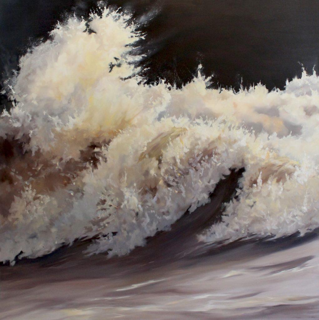 Waves33 Walton on the Naze Dawn Hall Artist Oil on Canvas
